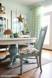 Covered Dining Room Chairs Dining Room Table And Chairs Makeover With Sloan Chalk Paint