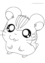 hamtaro color coloring pages kids cartoon characters