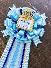 royal blue baby shower mommy to be pin little prince