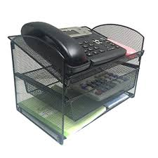 Wire Mesh Desk Organizer Vanra Metal Mesh Desktop Organizer Telephone Stand
