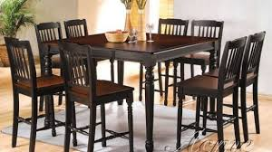 9 dining room sets 9 dining set counter height finish black room sets