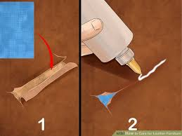 How To Repair Leather Sofa Tear 3 Ways To Care For Leather Furniture Wikihow