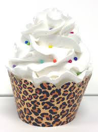 leopard animal print cupcake wrappers 24ct personalized party