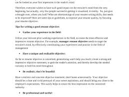 Best Resume Objectives Fancy Design Writing A Great Resume 15 How To Write A Great Resume