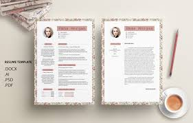 resume example docx vintage floral flower resume template cv template coverletter vintage floral flower resume template cv template coverletter simple resume template cv template letterhead m by showy68template