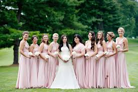 bridesmaid dresses blush bridesmaid gowns from real weddings