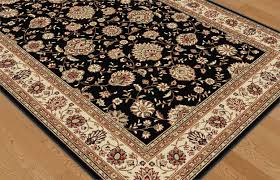 Persian Rug Mouse Mat by Black Traditional Persian Floral Area Rug Red Ivory Bordered