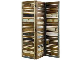 classic home vintage reclaimed wood multi color 3 panel screen