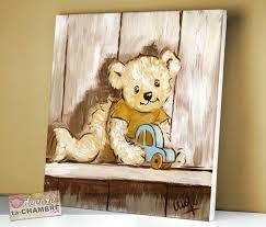 chambre bebe ourson tableau pour chambre d enfant tableau ourson actagare garaon 41