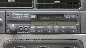 vw or audi how to enter a radio code radio display reads safe