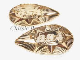 bsa metal gas tank badge emblem set 82 9695 u0026 82 9696 1968 70 a65 b25