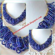 making bead necklace images Beading tutorial how to make an ocean blue seed bead cluster