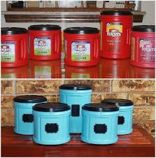 how great is this upcycled coffee containers into canisters