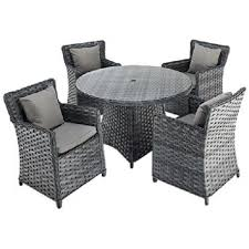 Dining Set With 4 Chairs Port Royal Platinum Rattan Dining Set With 4 Chairs