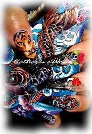 nailqueen ed hardy tattoo nails ii