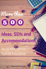 Smart Goals Worksheet For Kids List Of Strategies Sdis For Your Iep Meeting Over 500 And