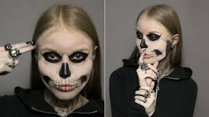 Skeleton Halloween Makeup by Tate Langdon Skeleton Halloween Makeup Tutorial Youtube