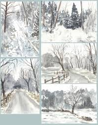 winter watercolour sketches by pannya on deviantart