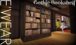 second life marketplace e u0027wear antique gothic bookshelf