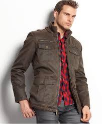 guess coat antique finish hooded jacket mens coats jackets