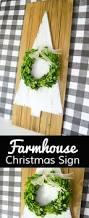 diy farmhouse christmas sign craft tutorial idea ultimate diy