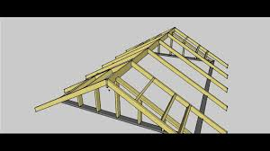 Prefabricated Roof Trusses Gable Roof Procedure Youtube