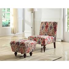 Striped Accent Chair Alluring Accent Chairs With Ottoman Striped Accent Chair With