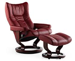stressless wing recliner chair and ottoman by ekornes stressless