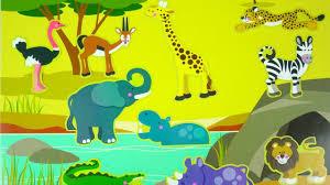 safari cartoon learn wild african animals safari zoo animal names real life