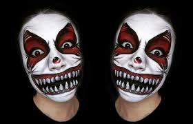 Halloween Makeup Clown Faces by Scary Clown Makeup Tutorial Youtube