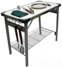 Folding Table With Handle Premier 710 Portable Aluminum Fold Up Table With Built In Carrying