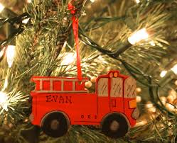 truck ornament personalized painted wood