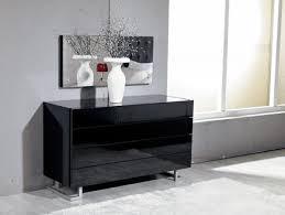 Black Leather Bedroom Sets Modrest Lyrica Black Leatherette Tall Headboard Bed Modern