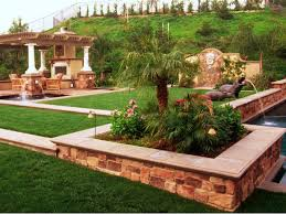 Backyard Trees Landscaping Ideas Charming Green Brown Wood Simple Design Landscapes Garden