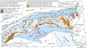 Alps On World Map by Permian Metamorphic Event In The Alps Geology