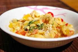 photo recette cuisine recette de curry de lotte au lait de coco et aux poivrons la