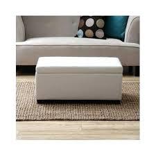 ottoman guernsey white leather storage ottoman bench