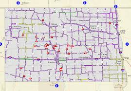 North Dakota travel alerts images Maps update 600338 mn dot travel map road construction season png