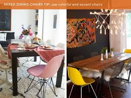 Dining Room End Chairs 10 Style Tips For Pulling Off A Mix U0026 Match Dining Set Apartment