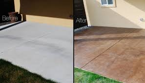 staining concrete patio before and after all home design ideas staining concrete patio before and after