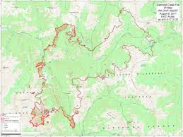 Usfs Fire Map Update Diamond Creek Fire Friday Aug 4 Methow Valley News