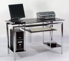 Glass And Wood Computer Desk Office Desk Computer Desk Chair Executive Desk Home Office Desk