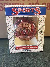 san francisco 49ers nfl glass ball ornament sports collector
