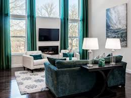Turquoise Curtains For Living Room Living Room Modern Brown And Turquoise Living Room Brown And