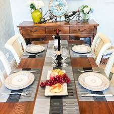 table runner or placemats amazon com placemats and table runners set of 5 placemats for