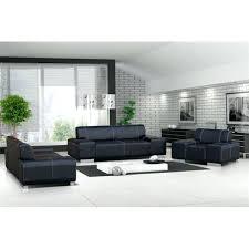 canape simili cuir 2 places ensemble de canapac 32 pvc noir et blanc livingbranches co