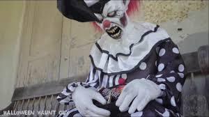 sitting scare clown prop spirit halloween youtube