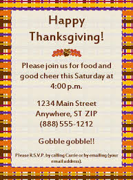 happy thanksgiving invitation template