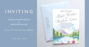 watercolor wedding invitations unique custom wedding invitation