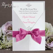 wedding invitations with ribbon personalised handmade gatefold wedding invitation ribbon paper